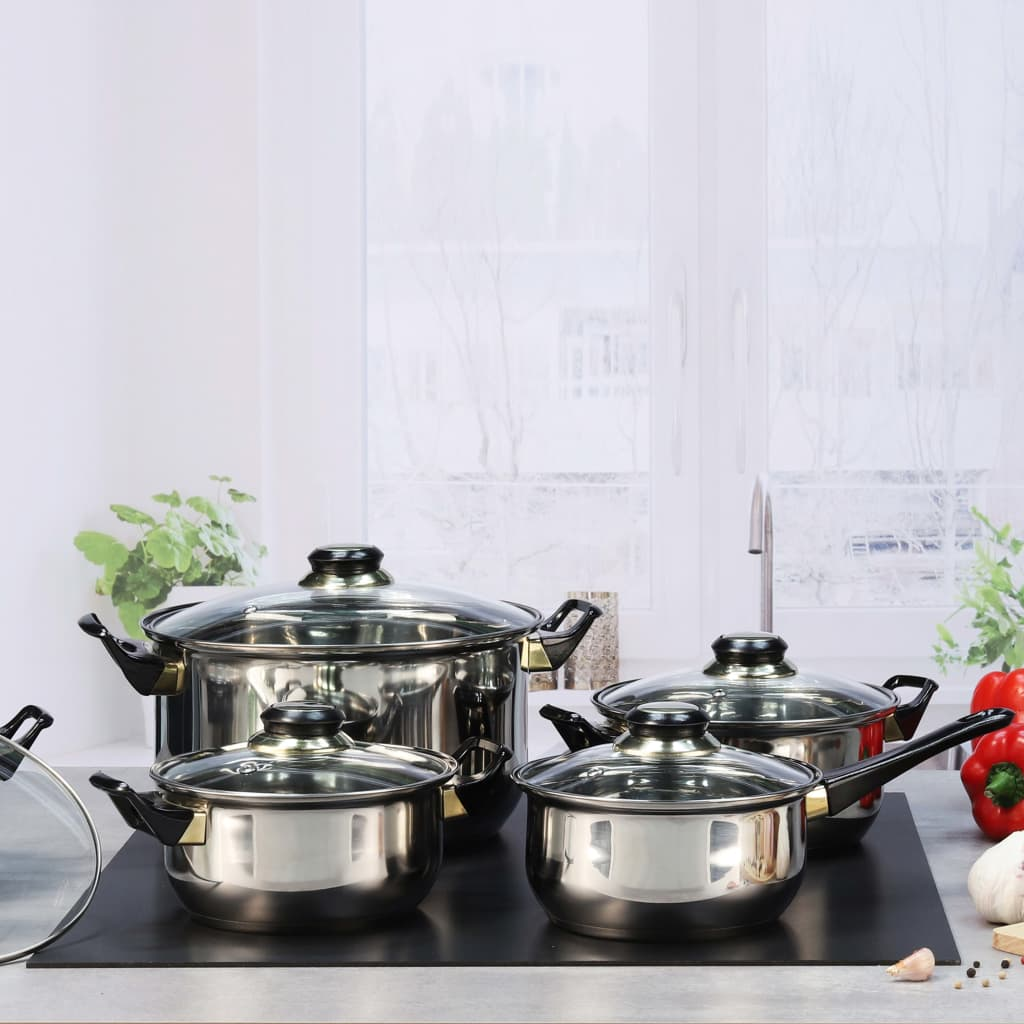 HI Köksredskap 12 delar rostfritt stål