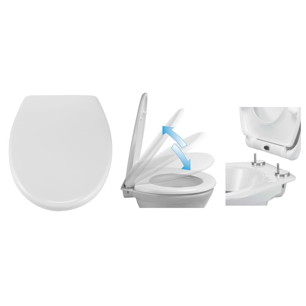 HI Toalettsits med snabbkoppling och mjuk stängning