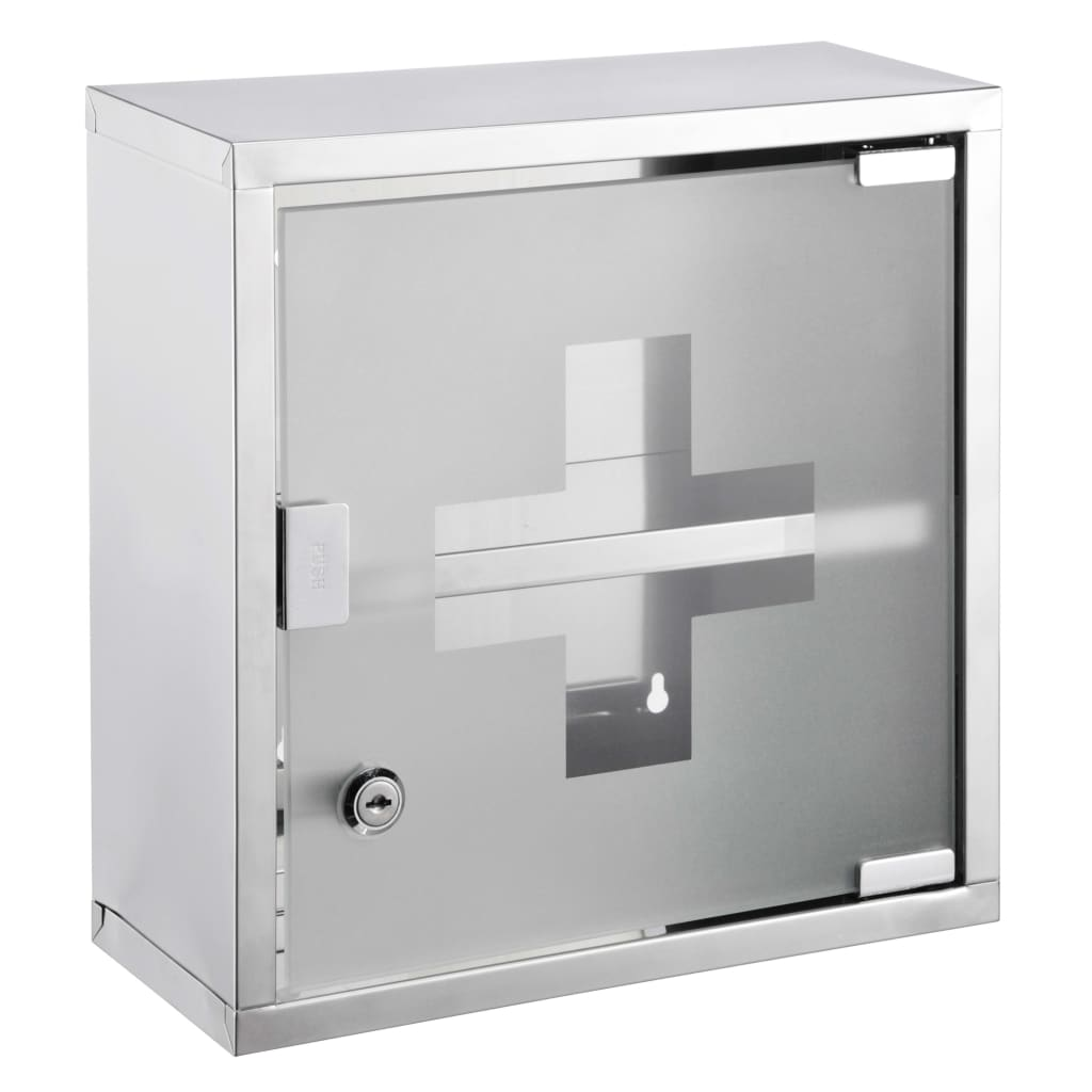 HI Medicinskåp 30x12x30 cm rostfritt stål