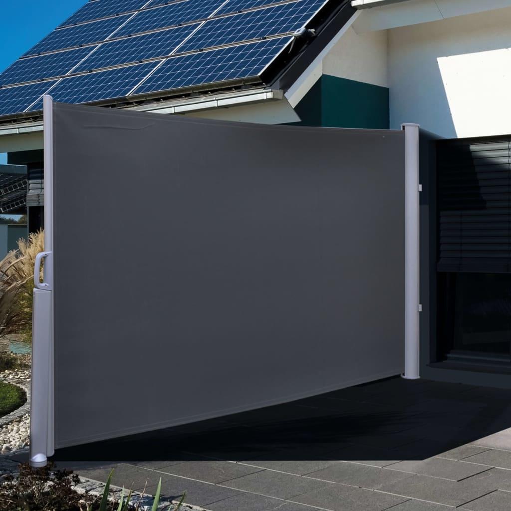 HI Insynsskydd 3x1,6 m svart polyester