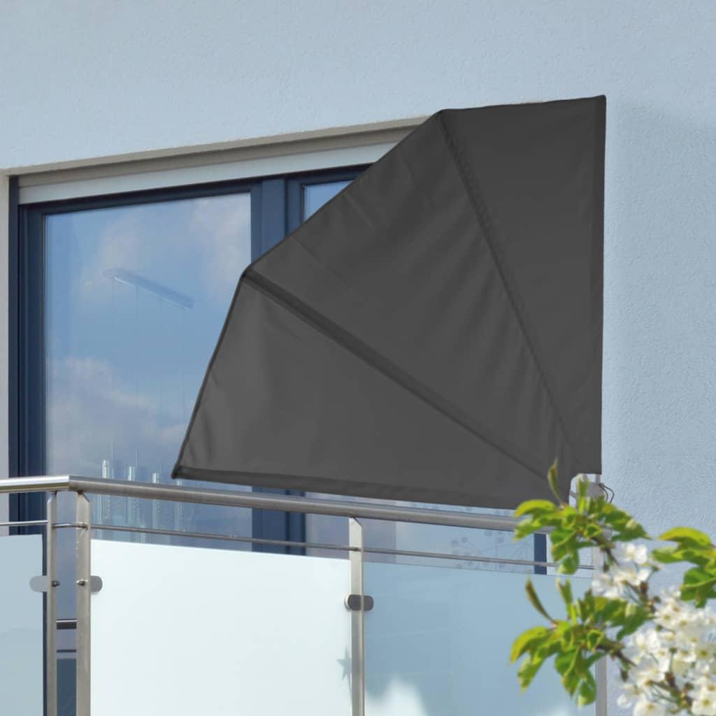 HI Balkongskärm 1,2x1,2 m svart polyester