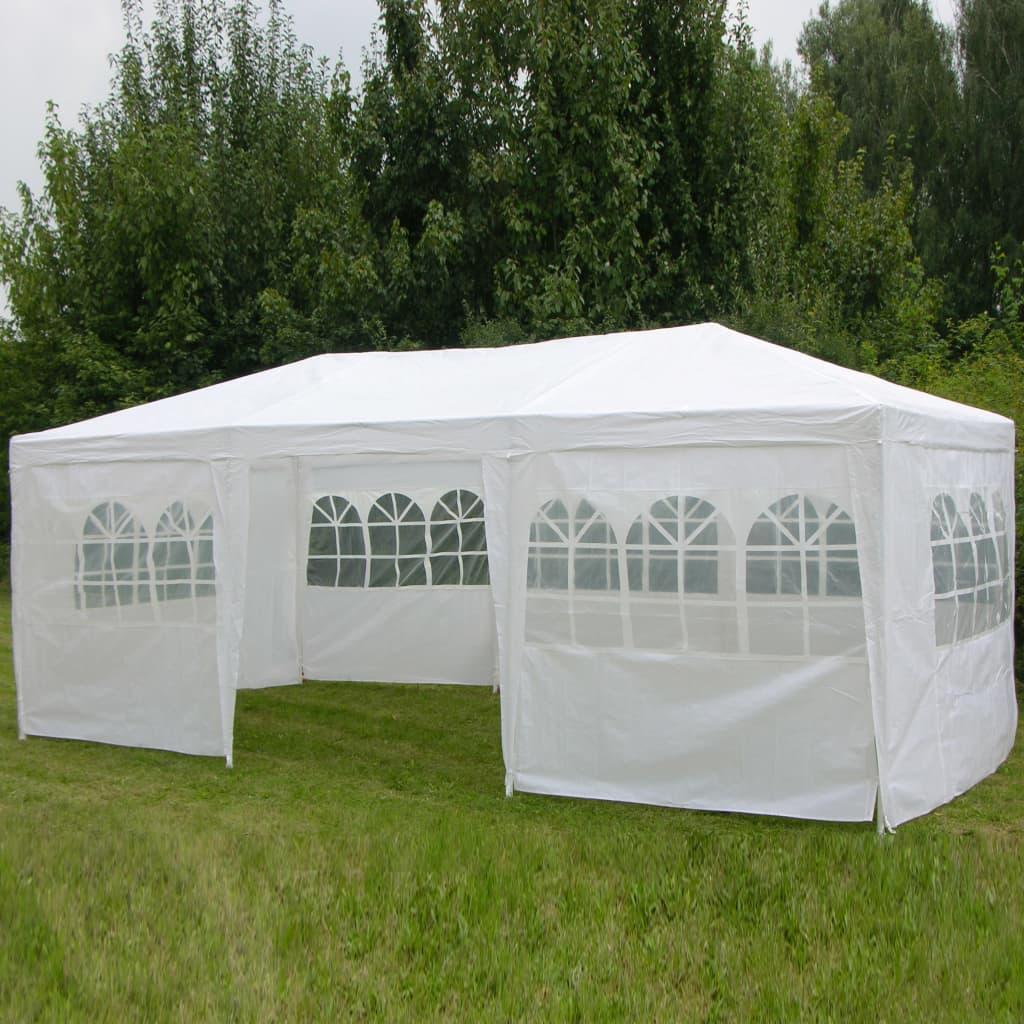 HI Paviljong med sidoväggar 3x6 m vit