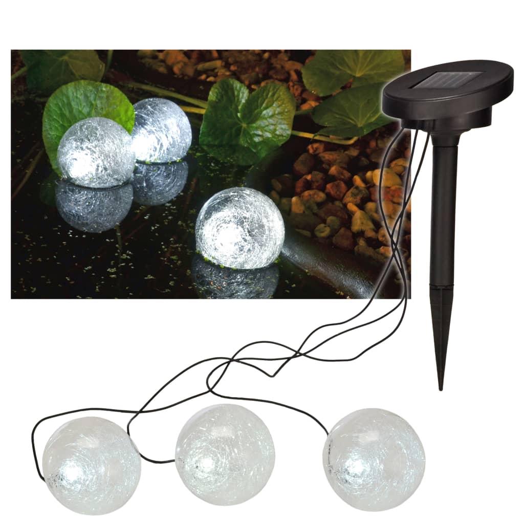HI Soldriven LED flytande dammbelysning 9 cm