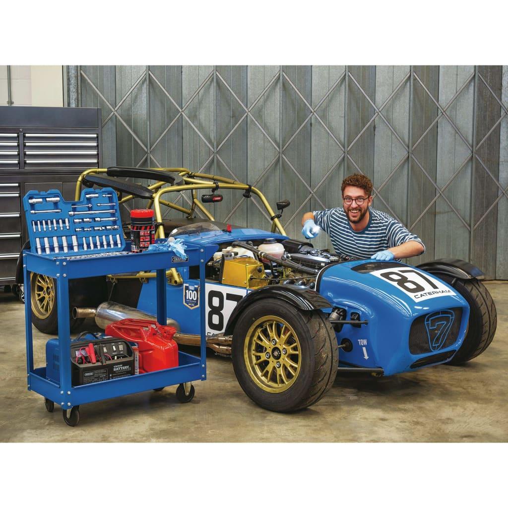 Draper Tools Verktygsvagn 2 våningar blå