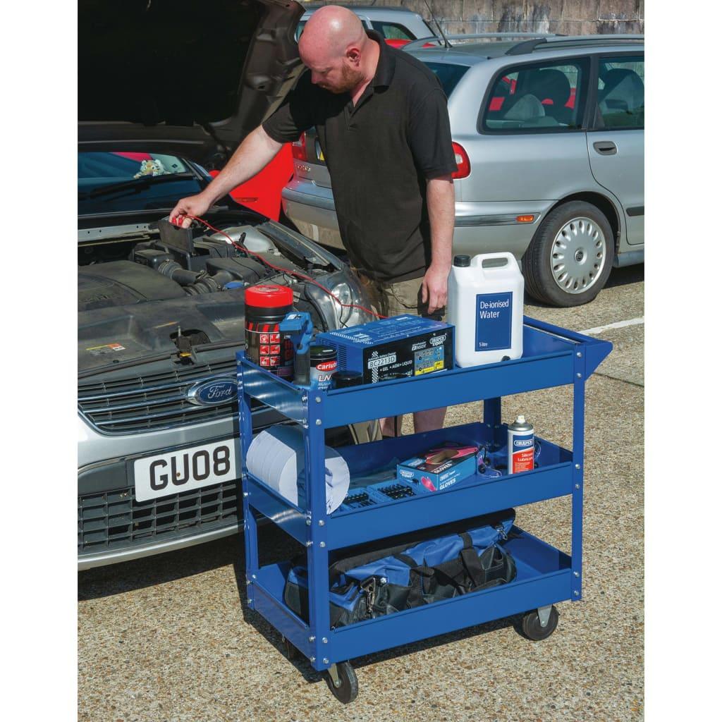 Draper Tools Verktygsvagn 3 våningar blå