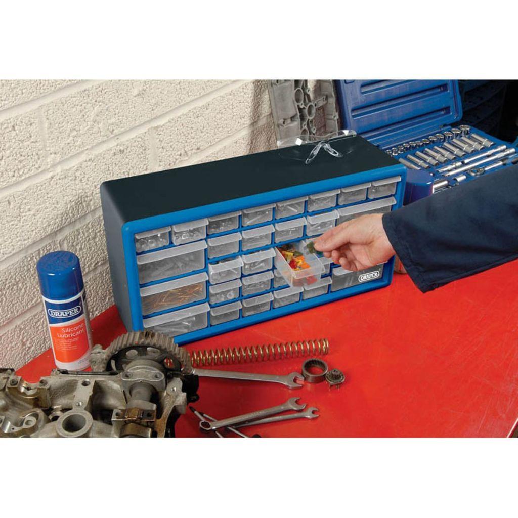 Draper Tools Sortimentskåp med 30 lådor blå 12015