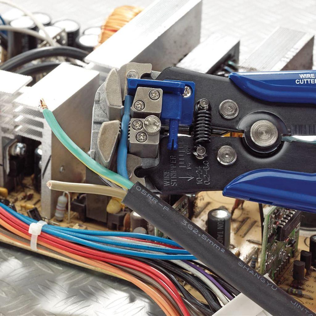 Draper Tools 2-i-1 Automatisk avisoleringstång/crimptång blå 35385