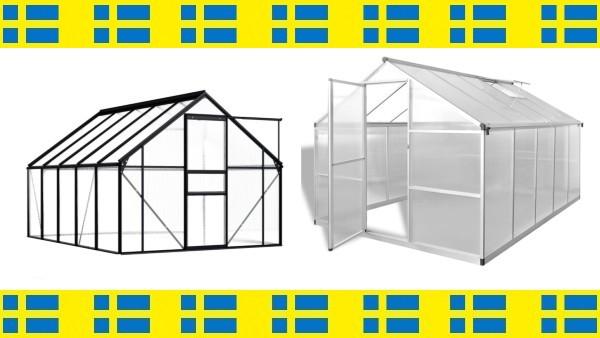 8 prisvärda växthus med gratis frakt inom hela Sverige