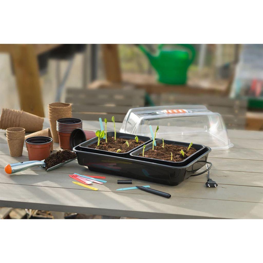 Nature Miniväxthus med värme 38x24x19 cm