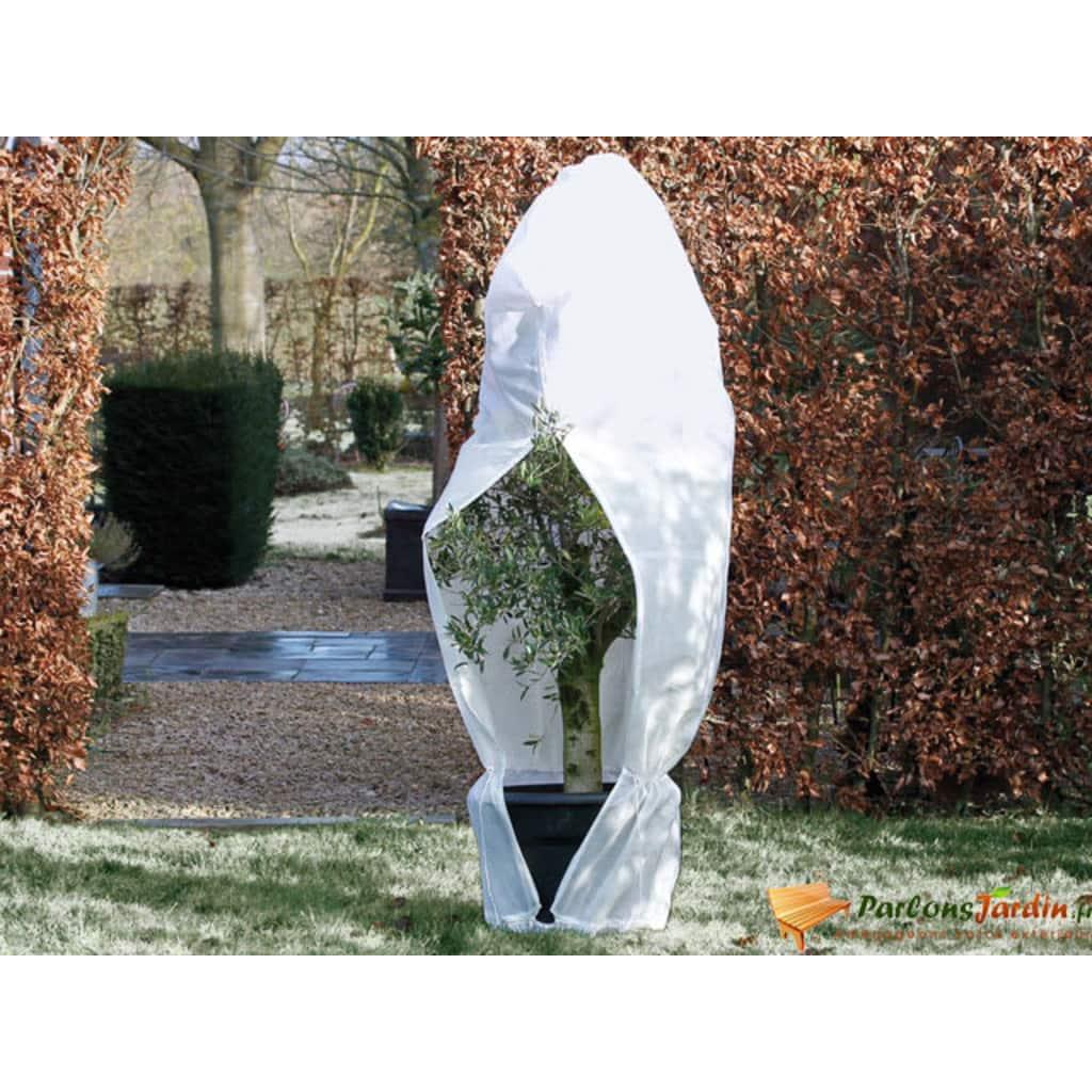 Nature Täckduk fleece med blixtlås 70 g/m² 2,5x2,5x3 m