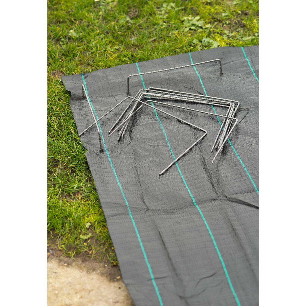 Nature Fästdon för täckväv 20 st 25x20 cm metall