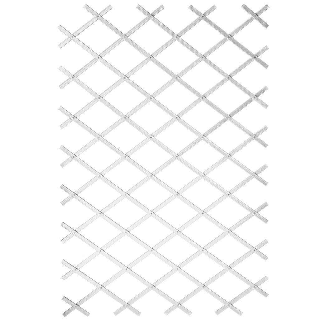 Nature Trädgårdsspaljé 100x200 cm PVC vit 6040703