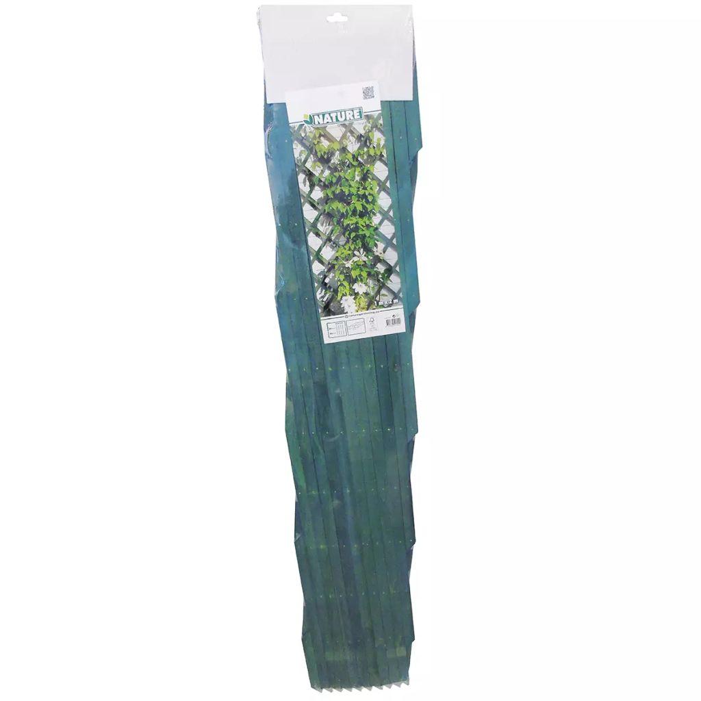 Nature Spaljé trädgård 100x200 cm trä grön 6041704