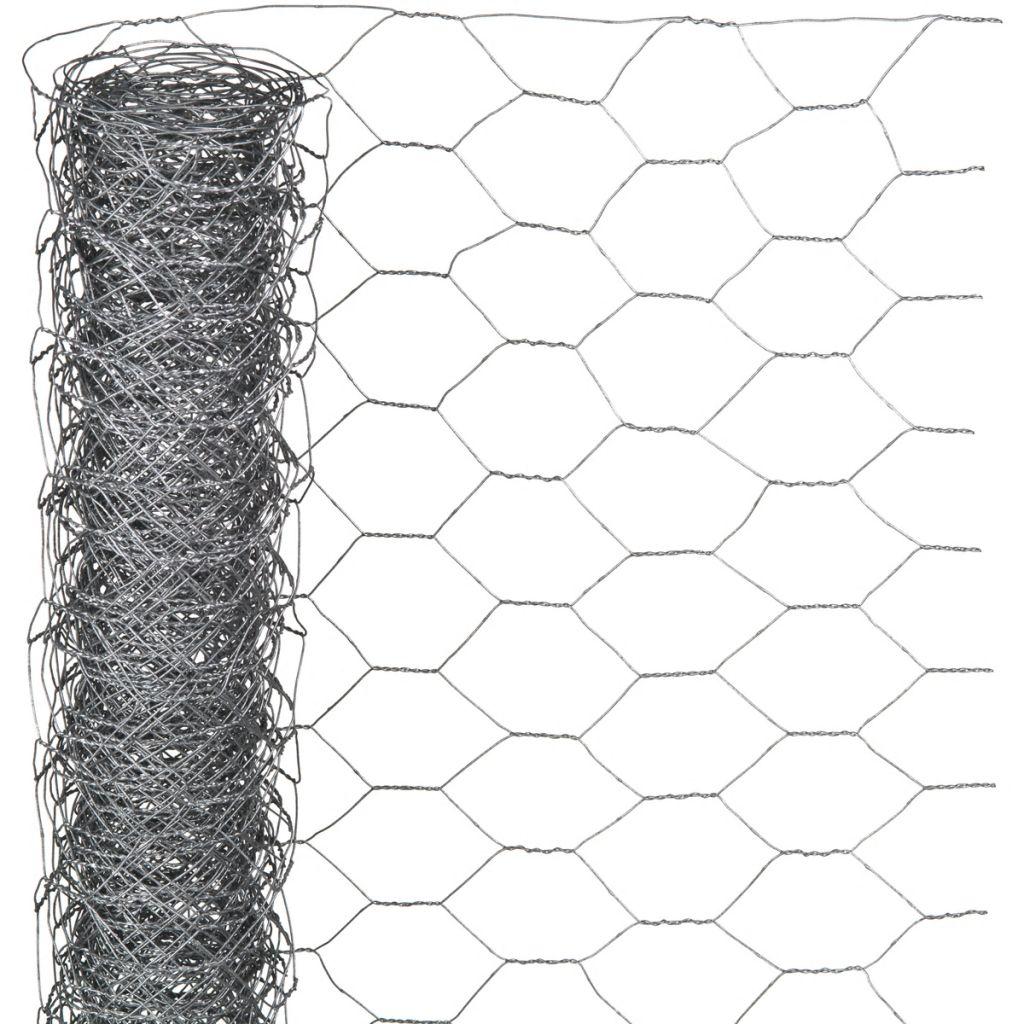 Nature Ståltrådsnät hexagonalt 0,5x2,5 m 25 mm galvaniserat stål
