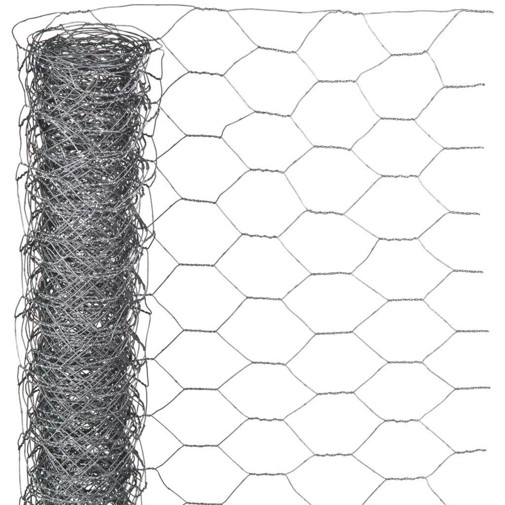Nature Ståltrådsnät hexagonalt 0,5x5 m 25 mm galvaniserat stål