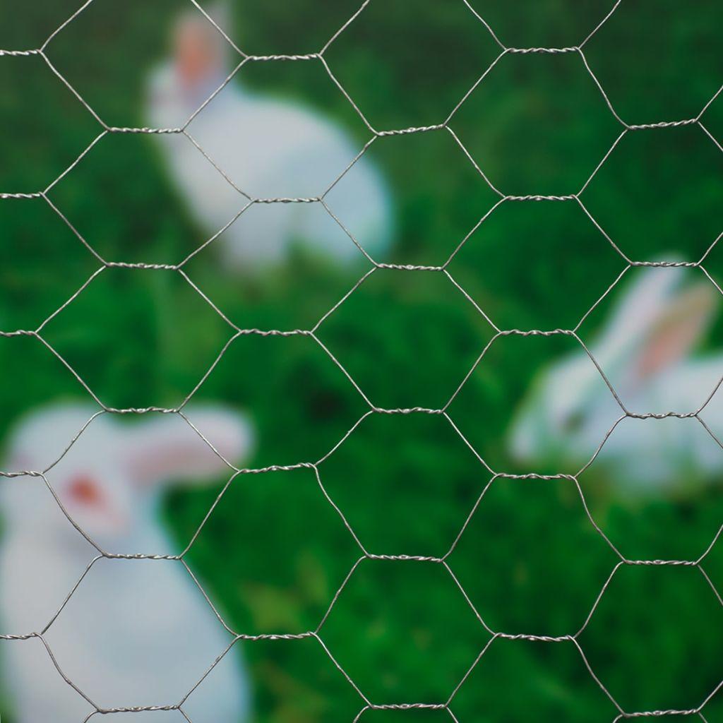 Nature Ståltrådsnät hexagonalt 0,5x10 m 40 mm galvaniserat stål