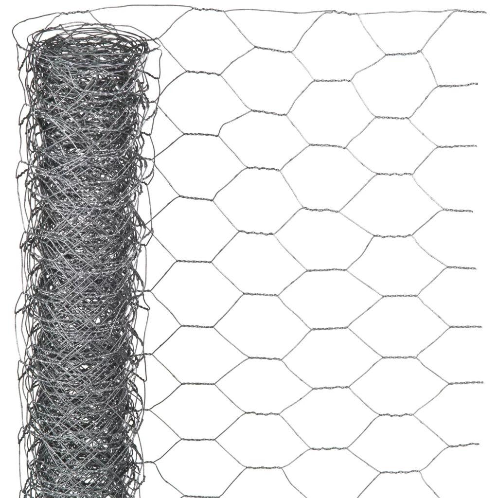 Nature Ståltrådsnät hexagonalt 1x10 m 40 mm galvaniserat stål