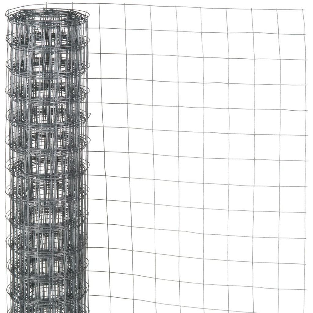 Nature Ståltrådsnät fyrkantig 0,5x2,5 m 6,4 mm galvaniserat stål