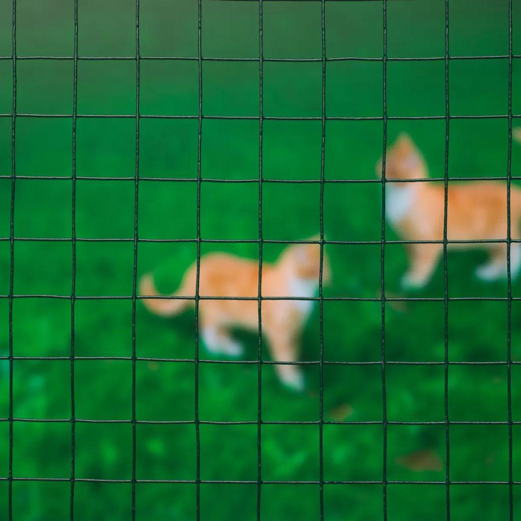 Nature Ståltrådsnät fyrkantig 0,5x2,5 m 13 mm plastbelagd stål grön