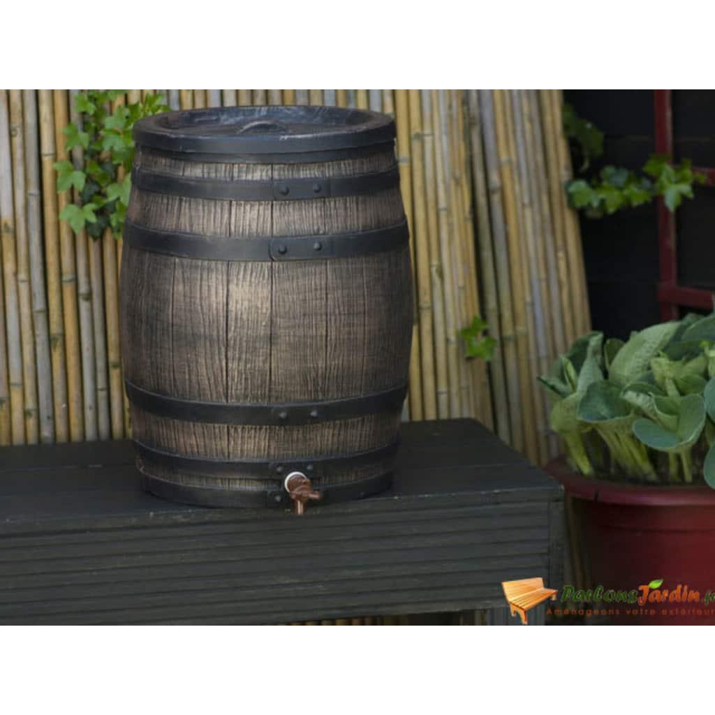 Nature Regntunna träimitation 50L 38x49,5 cm brun