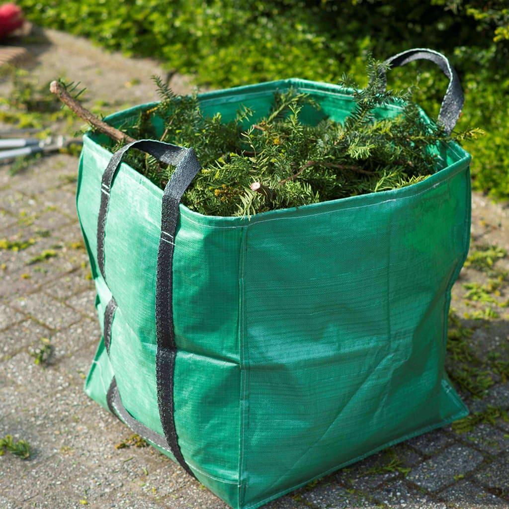 Nature Trädgårdsavfallspåse fyrkantig grön 148 L