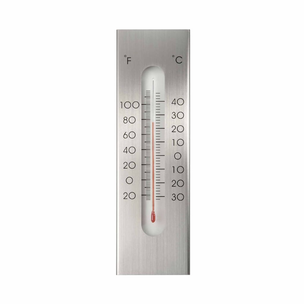 Nature Väggtermometer utomhusbruk aluminium 7x1x23 cm