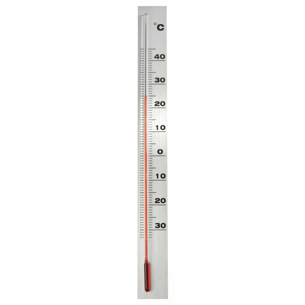 Nature Väggtermometer utomhusbruk aluminium 3,8x0,6x37 cm