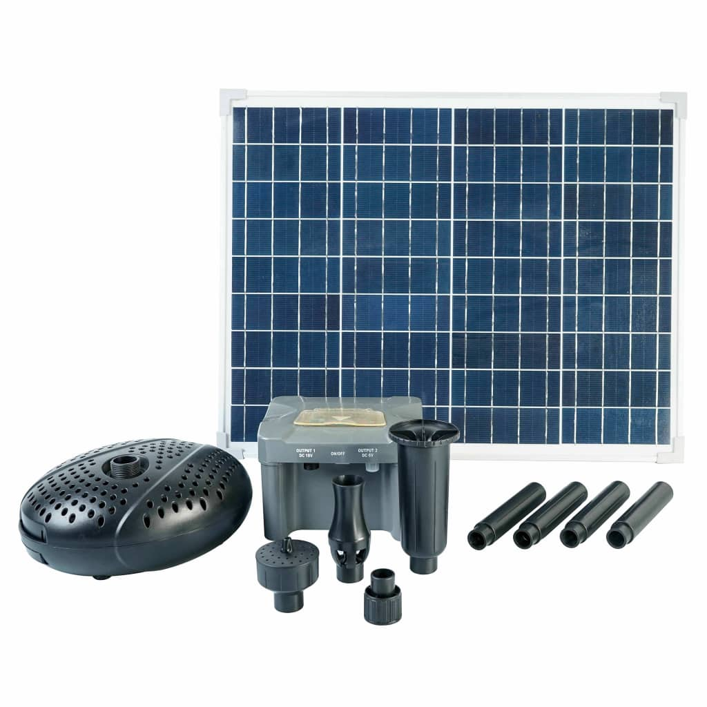 Ubbink SolarMax 2500 set med solpanel, pump och batteri