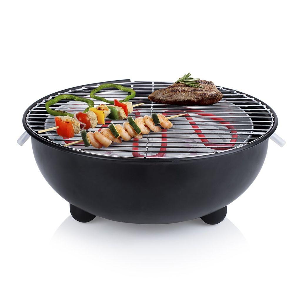 Tristar Elektrisk bordsgrill BQ-2880 1250 W 30 cm svart