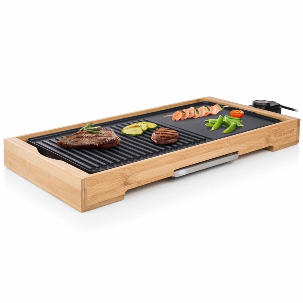 Tristar Bordsgrill i bambu BP-2641 2200 W 51x25,4 cm