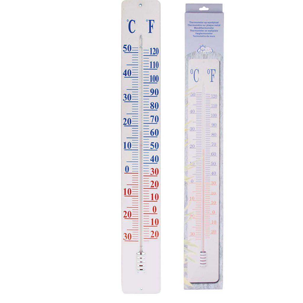 Esschert Design Klassisk termometer på väggplatta 90 cm TH9