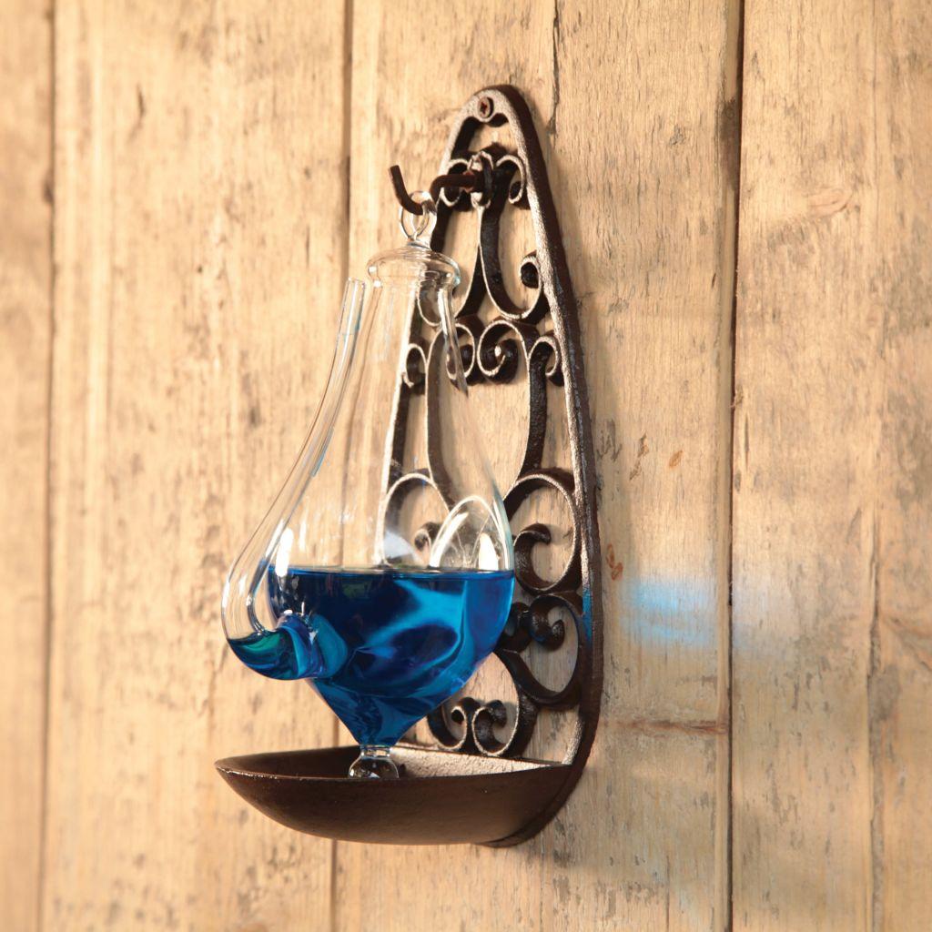 Esschert Design Stormglas med gjutjärnshållare 0,5 L TH31