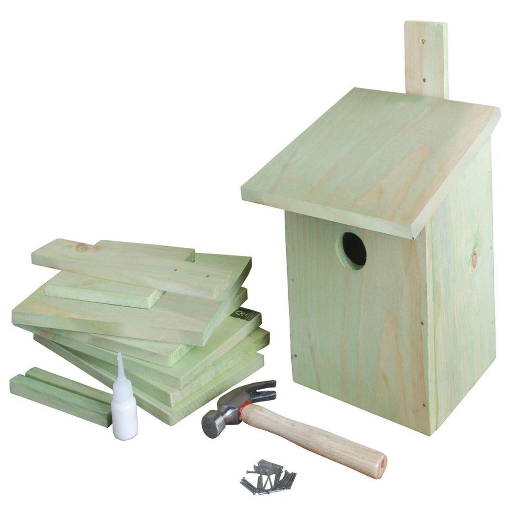 Esschert Design Fågelholk gör det själv 21,3x17x23,3 cm KG52