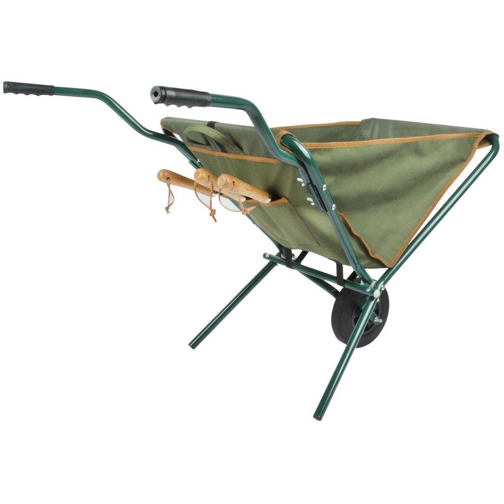 Esschert Design Skottkärra hopfällbar grön GT138