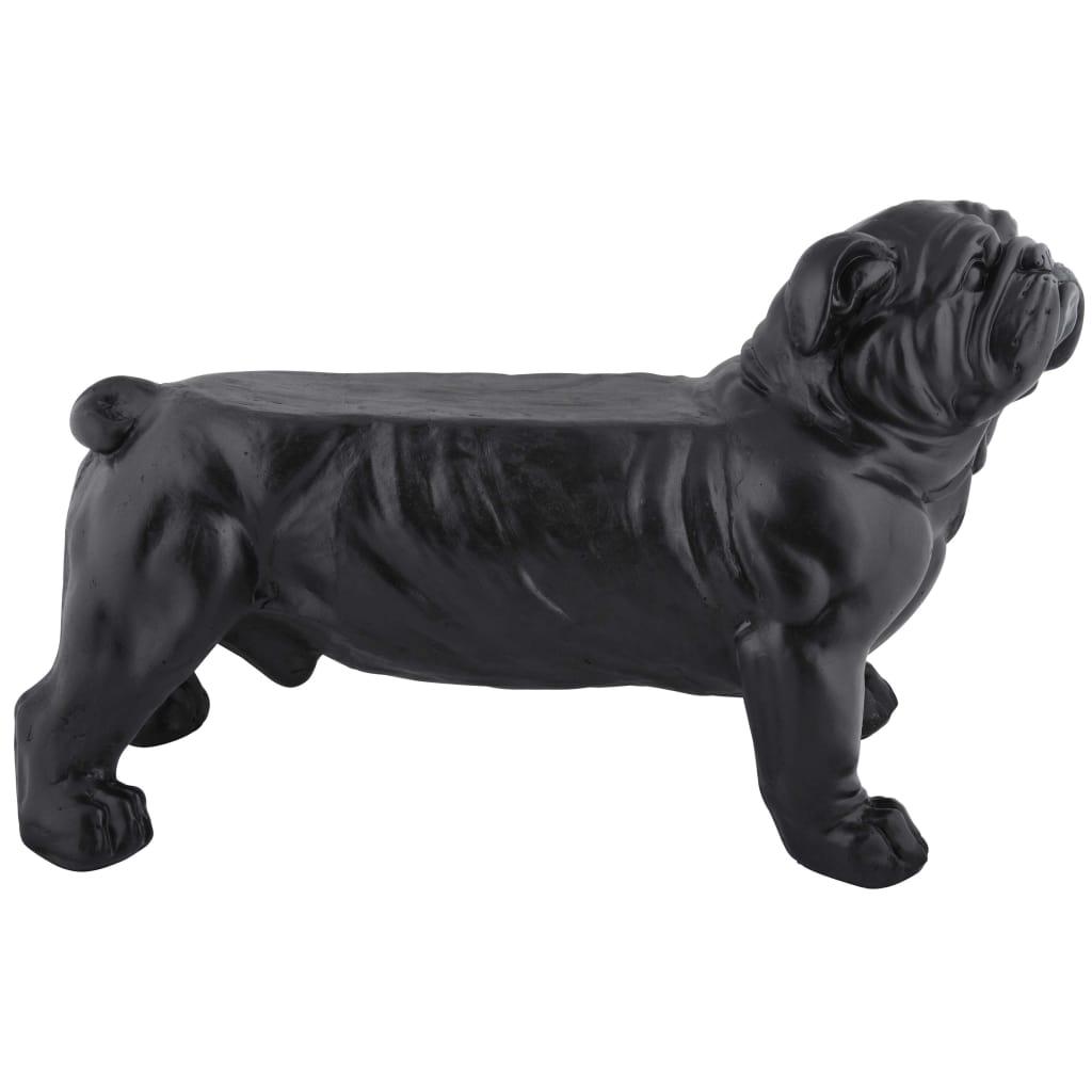 Esschert Design Trädgårdsbänk bulldog svart AV14
