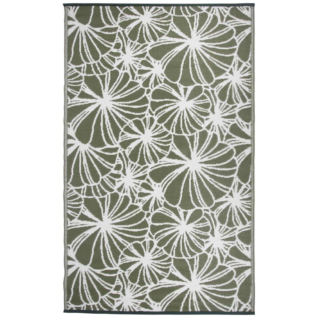 Esschert Design Utomhusmatta 241x152 cm blommig OC21