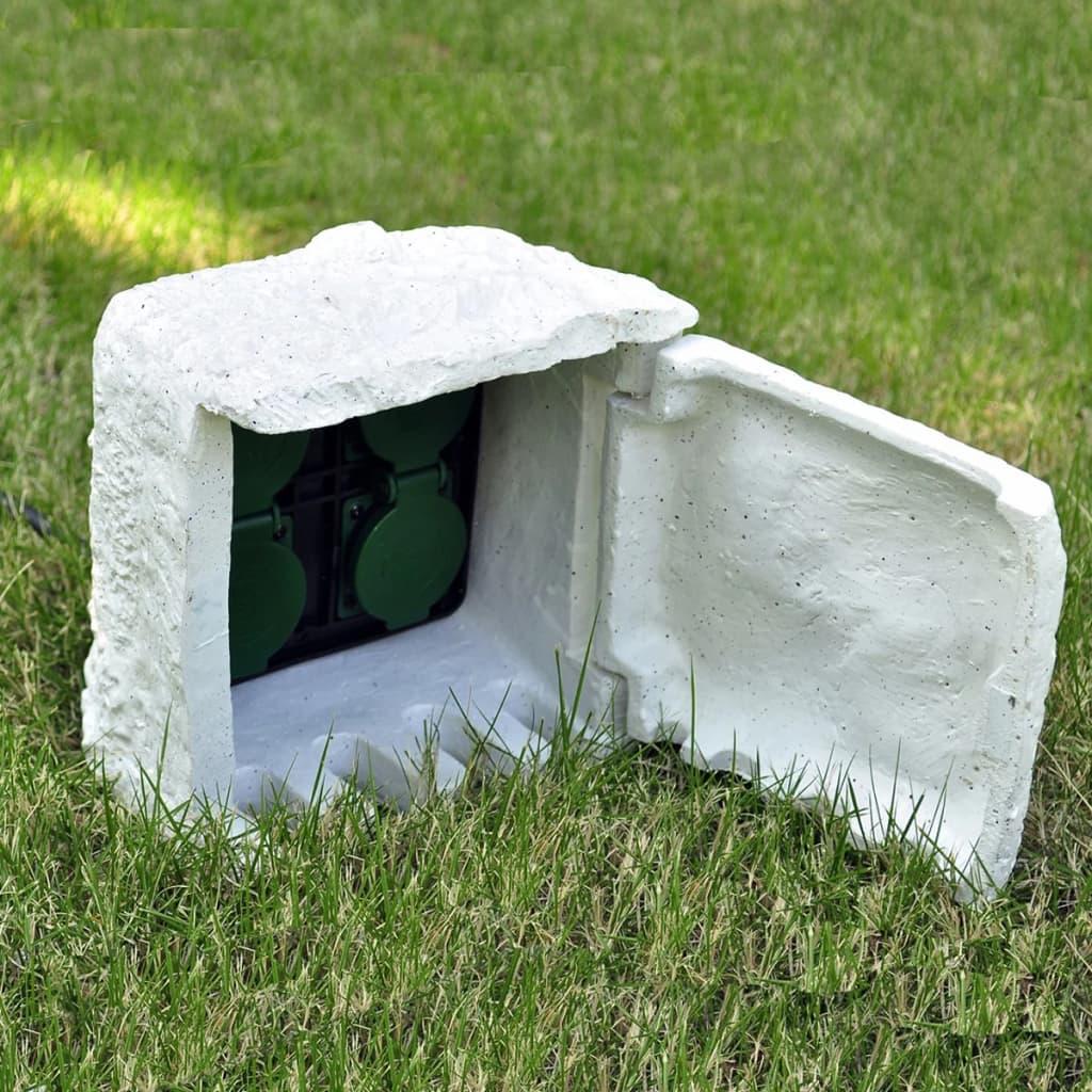Grenkontakt till trädgård vattentät 4 el-uttag