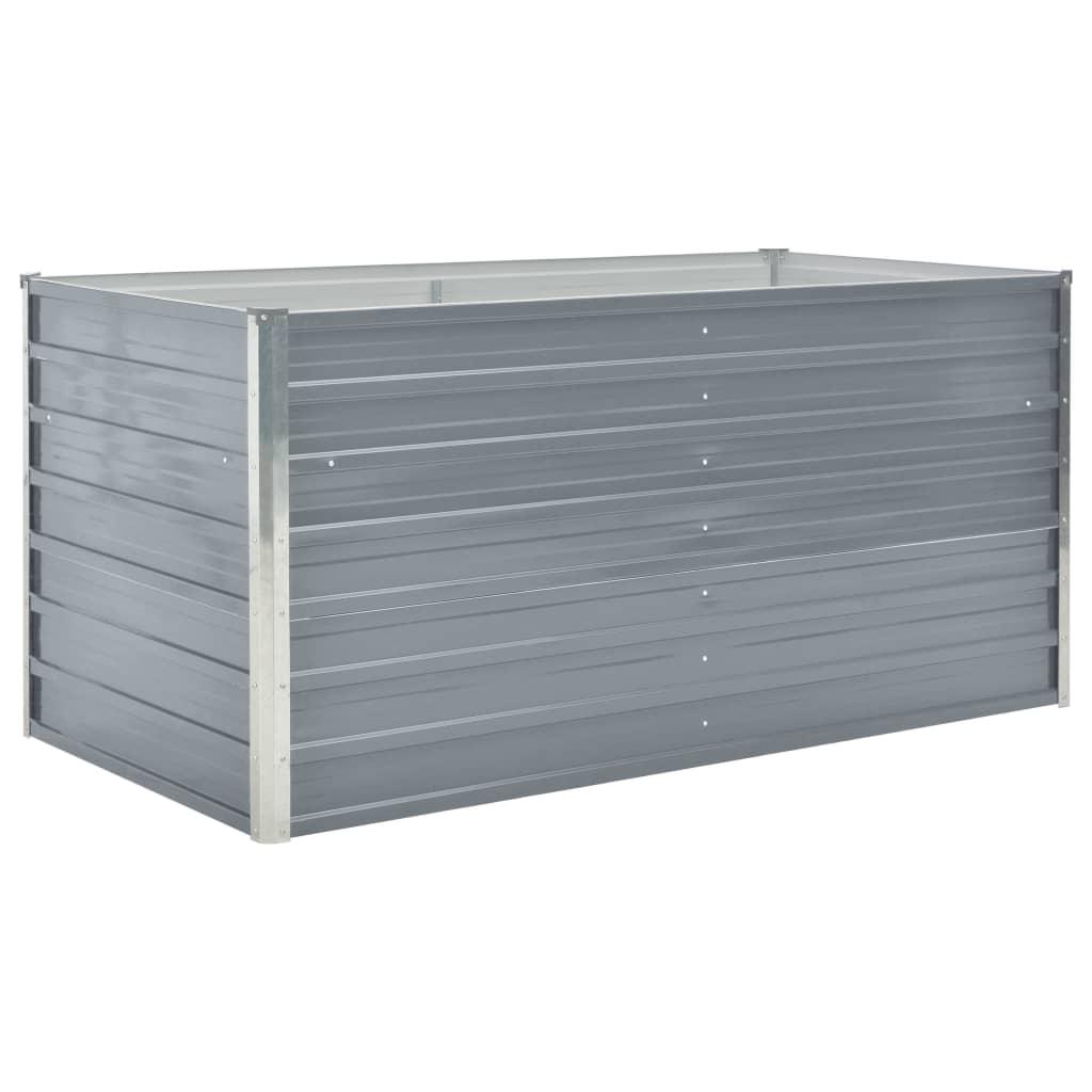 Odlingslåda 160x80x77 cm galvaniserad stål grå