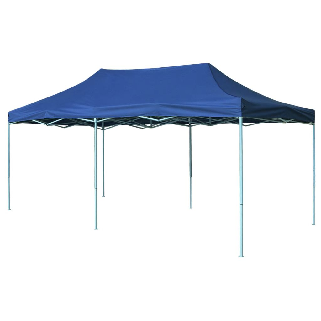 Pop-Up hopfällbart partytält 3x6 m blå