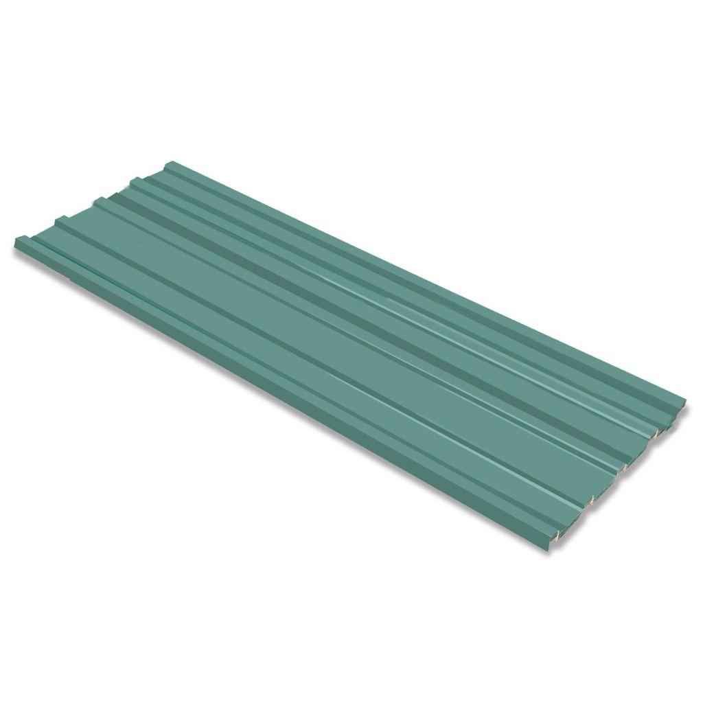 Takprofiler 12 st galvaniserat stål grön