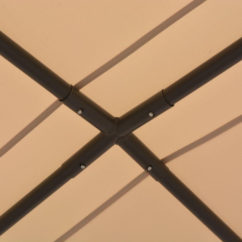 Paviljong 3x3 m stål beige