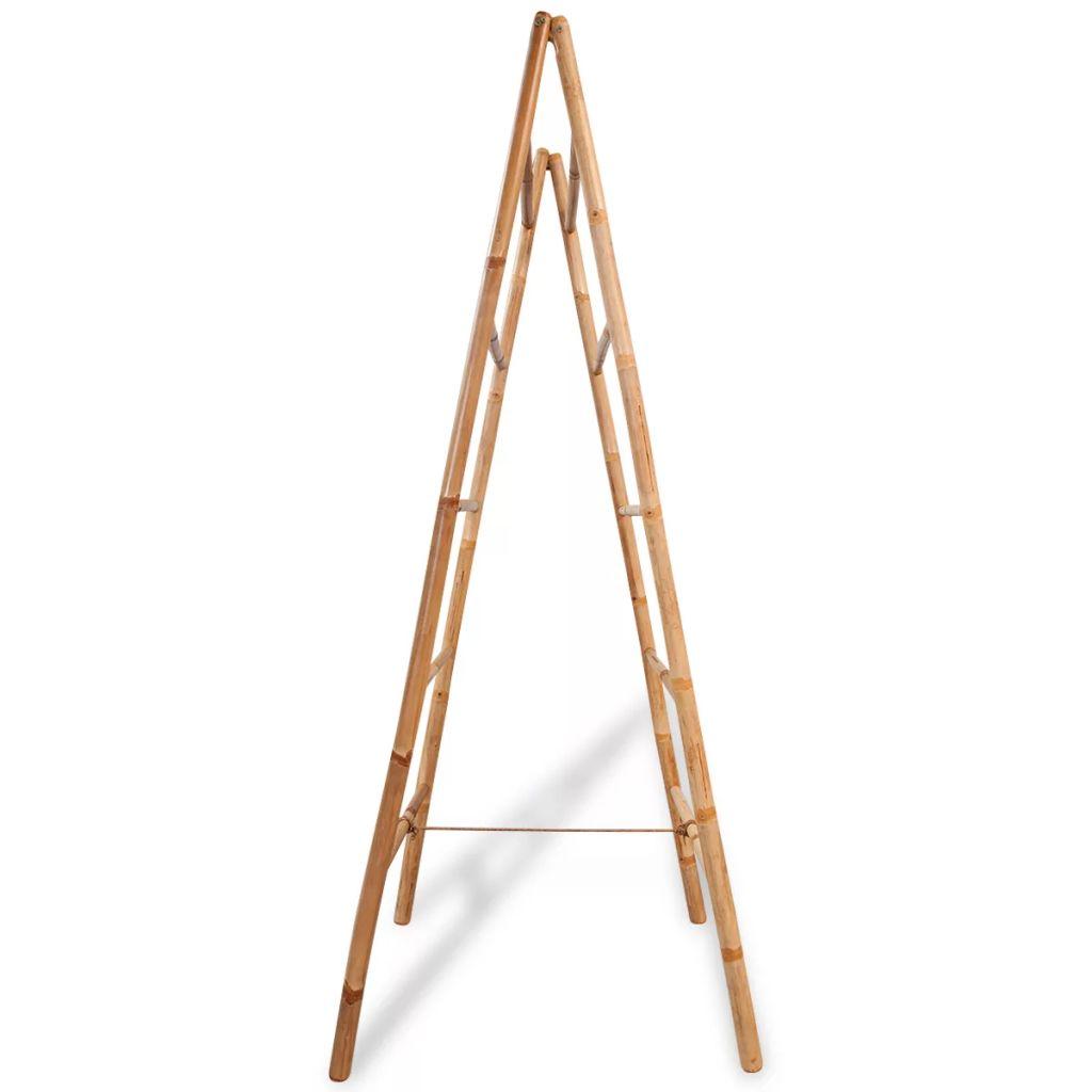 vidaXL Dubbel handduksstege med 5 pinnar bambu 50x160 cm