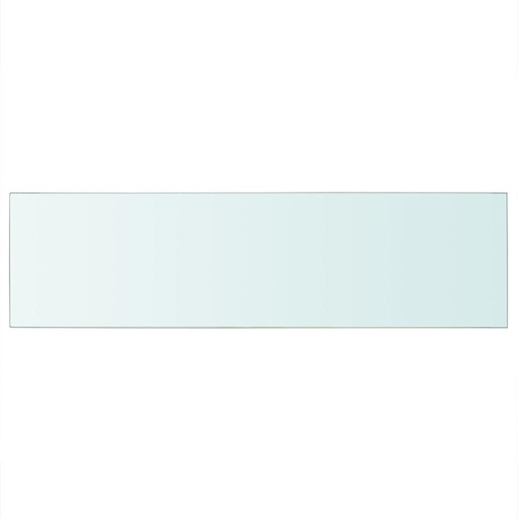 vidaXL Hyllplan glas genomskinlig 90x25 cm