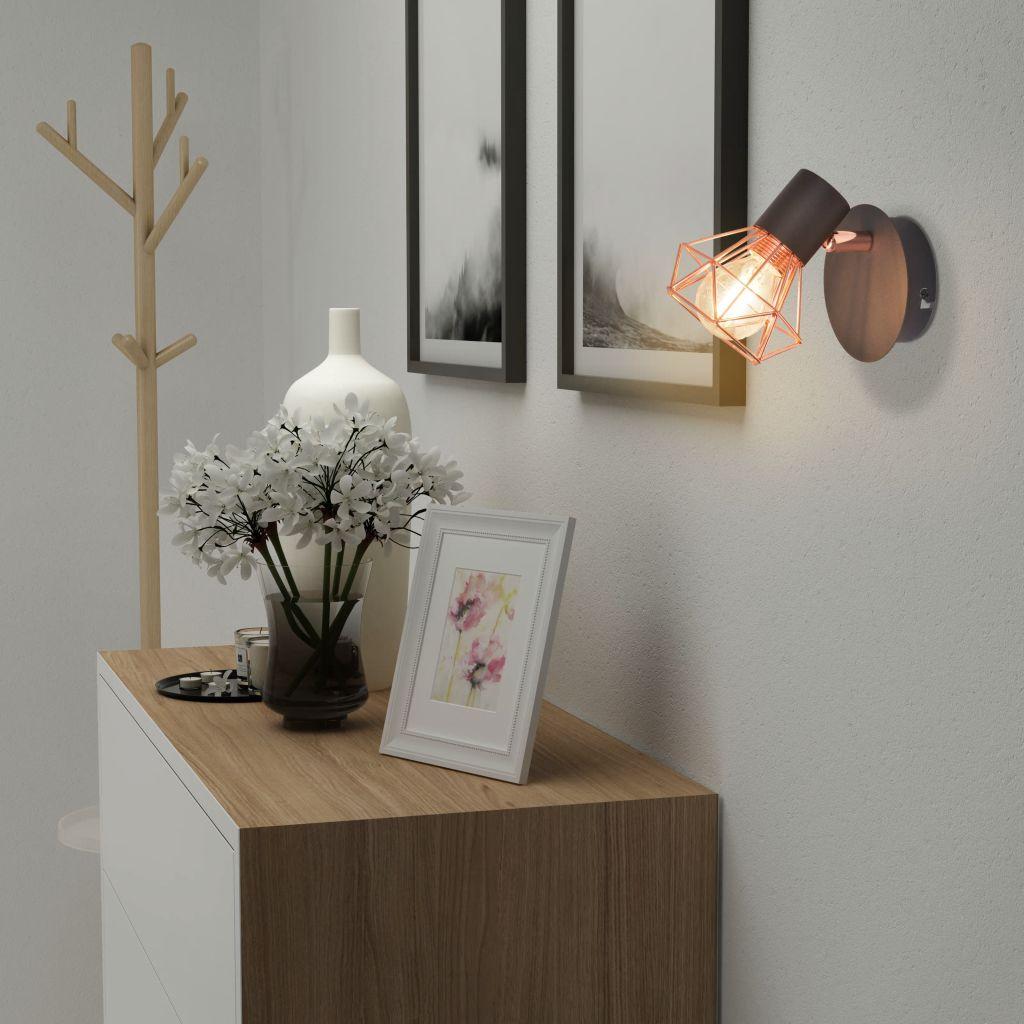 vidaXL Vägglampor 2 st med 2 LED-filamentlampor 8 W