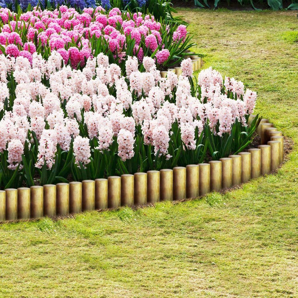 Spetsiga staketstolpar 25 st impregnerad furu 5x30 cm
