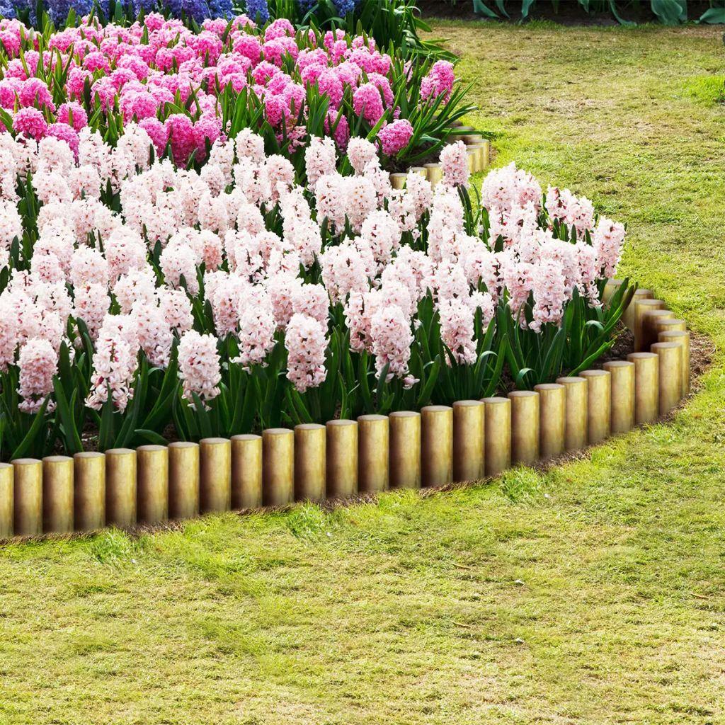 Spetsiga staketstolpar 25 st impregnerad furu 5x40 cm