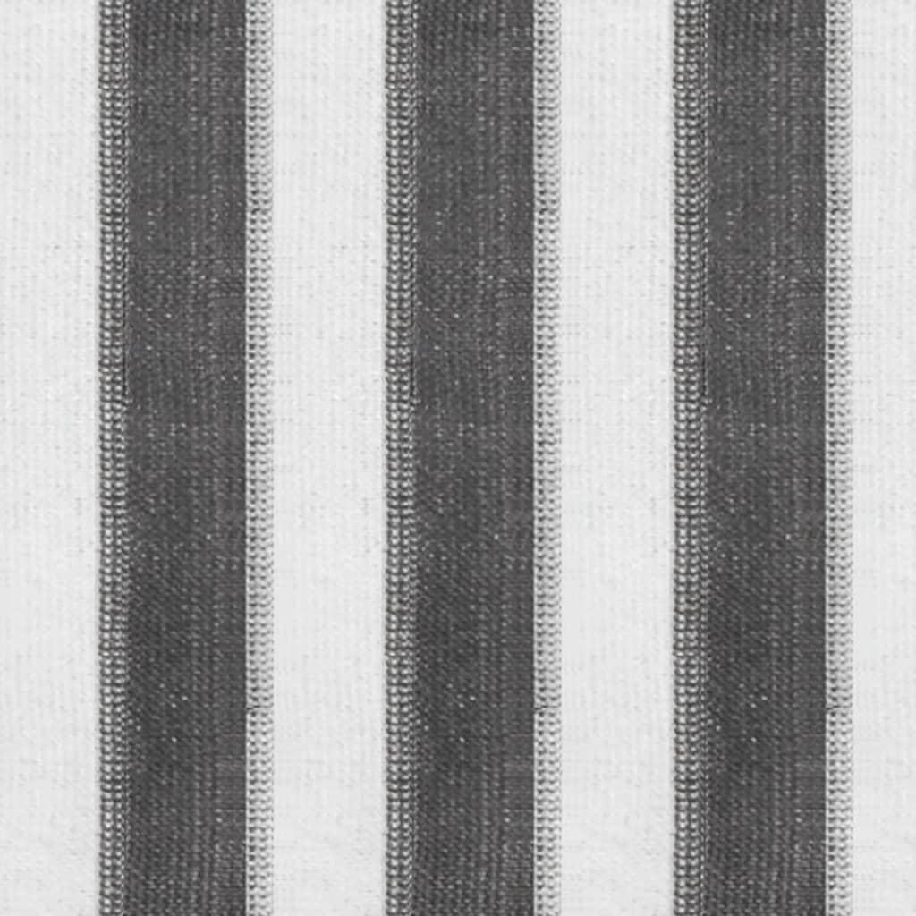 Rullgardin utomhus 400x140 cm antracit och vita ränder