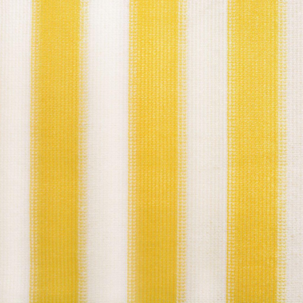 Rullgardin utomhus 400x230 cm gula och vita ränder