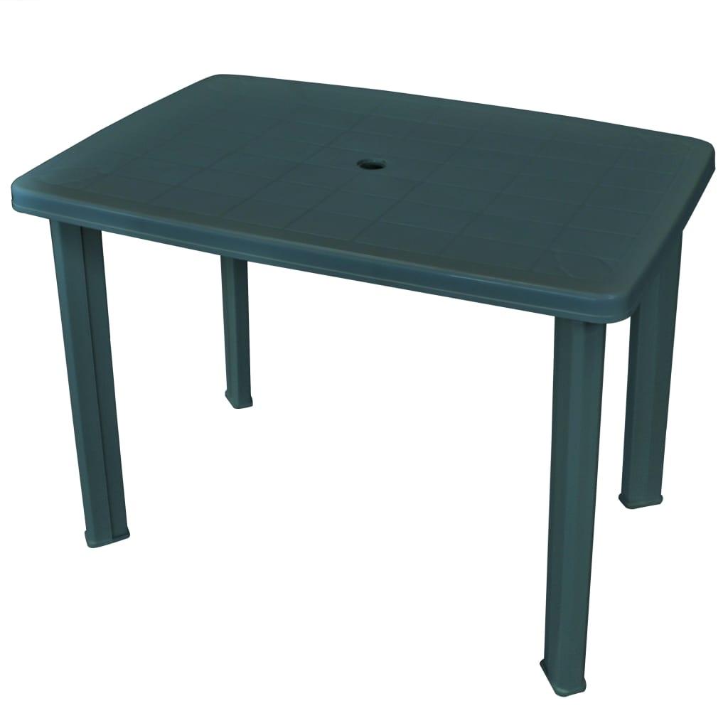 Trädgårdsbord grön 101x68x72 cm plast