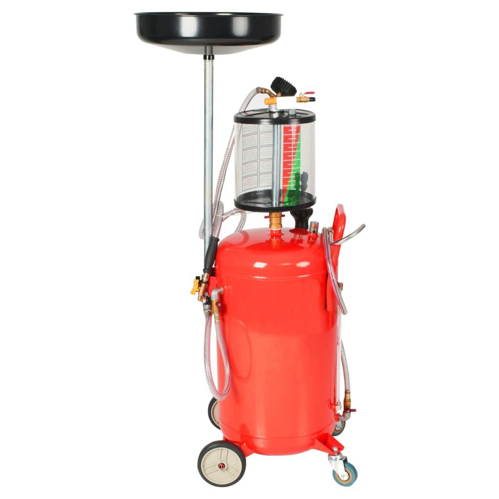 vidaXL Spilloljebehållare 70 L stål röd